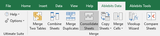 Run Consolidate Sheets by clicking on its icon on Excel's ribbon.