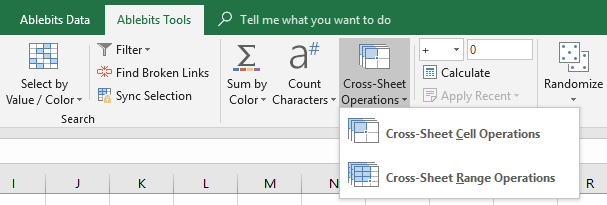 Click on the Cross-Sheet Cell Operations icon.