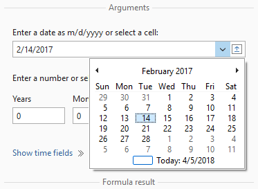 Select the date in the drop-down calendar.