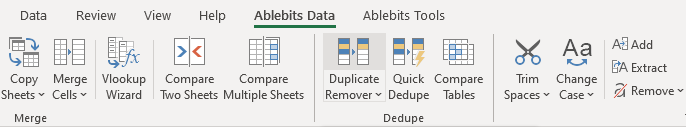 Open Duplicate Remover for Excel.