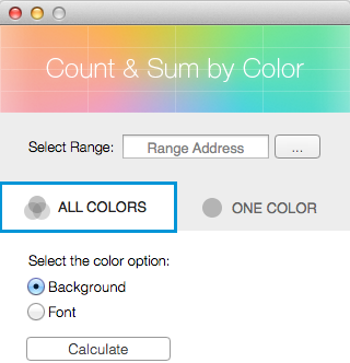 Click on the All Colors tab.