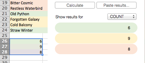 See the calculation results added.