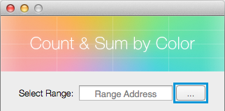 Click on the Select range icon to pick the necessary area manually.