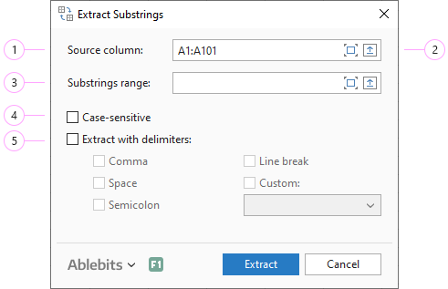 Adjust the Extract Substrings settings.