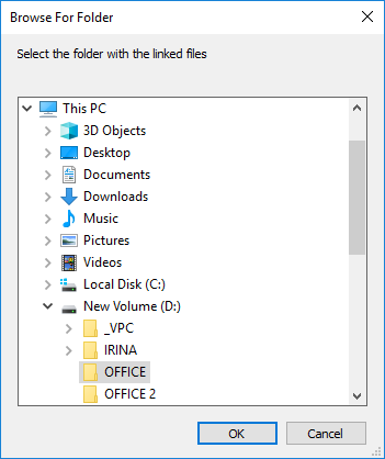 Change path and find the correct file.