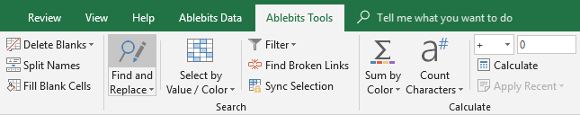 Run Advanced Find and Replace in Excel.