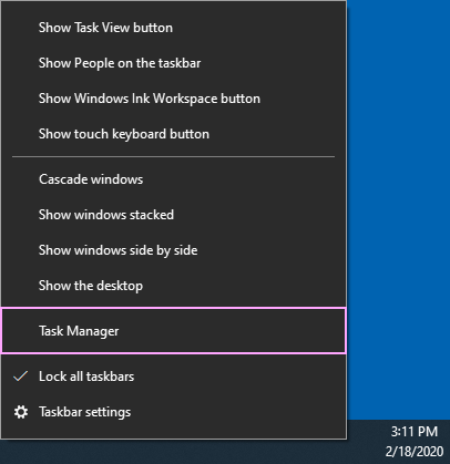 Task Manager.