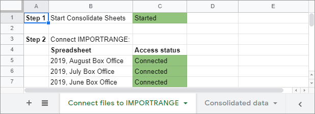 Connect all files to IMPORTRANGE.