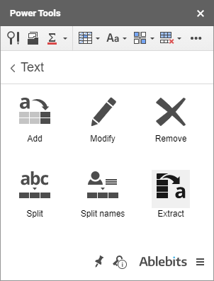 The Extract add-on for Google Sheets.