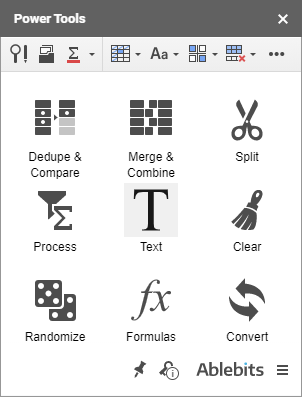 A group of tools to work with text.