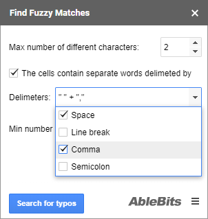 Check the delimiters used in your cells.