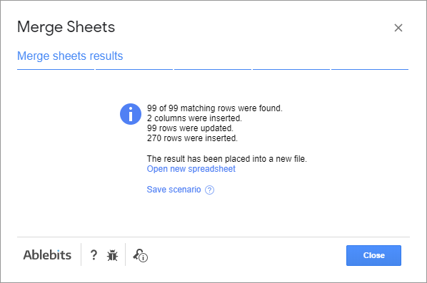 Google Sheets - join tables.