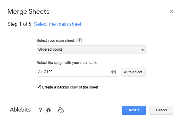 Select the sheet where you want to update records.