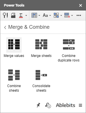 Run Merge Values directly from Power Tools.