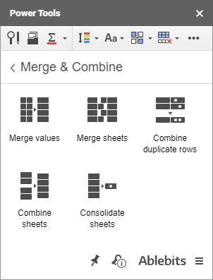 Merge & Combine in Power Tools.