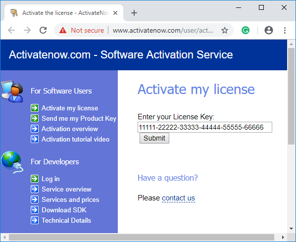 Software License Key