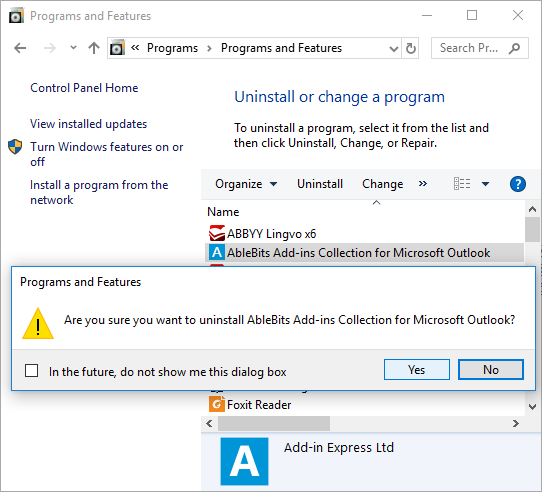 Install and uninstall the Ablebits Add-ins Collection for Outlook