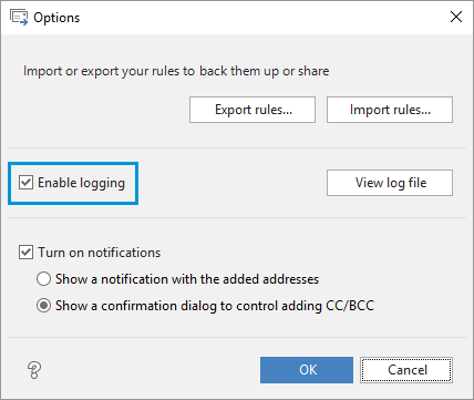 Enable logging of the Auto BCC work.