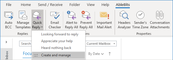 The Quick Reply for Outlook icon.