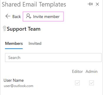 Invite team member.