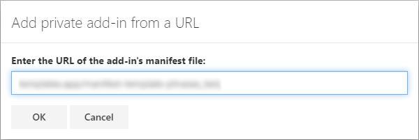 Add a custom add-in.