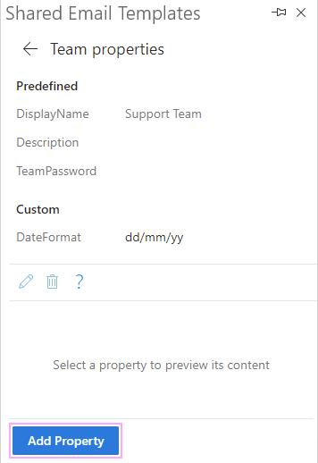 Add Team property.