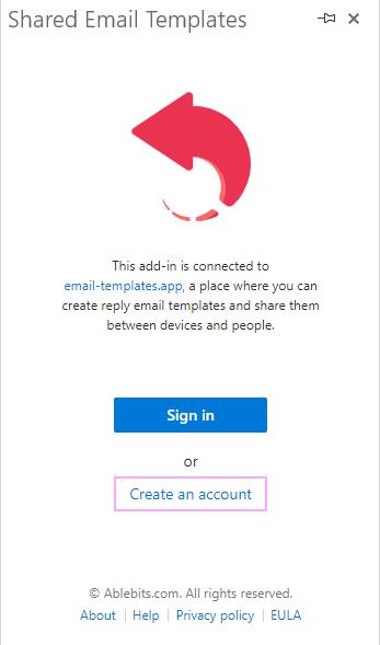 Create account.