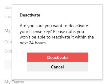 Confirm deactivation.