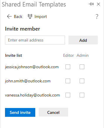 Emails are added.