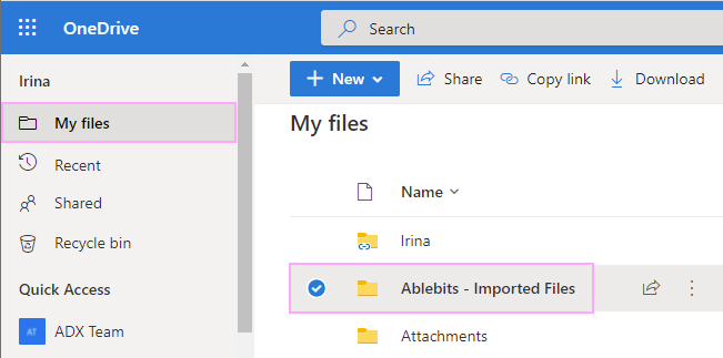 Ablebits - Imported Files.
