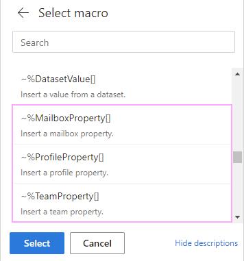 Select the macro.