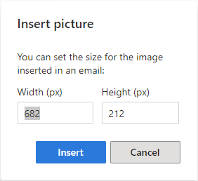 Resize your image.