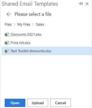 Select a file.