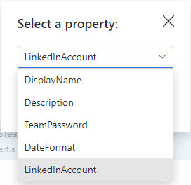 Select from drop-down list.