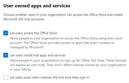 Check Org settings in Microsoft 365 admin center.
