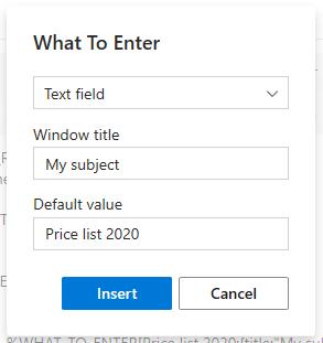 Enter Window title.