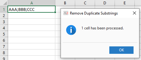 Remove Duplicate Substrings example result.