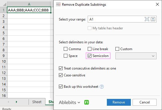 Remove Duplicate Substrings example.