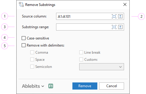 Adjust the Remove Substrings settings.