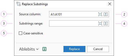 Adjust the Replace Substrings settings.