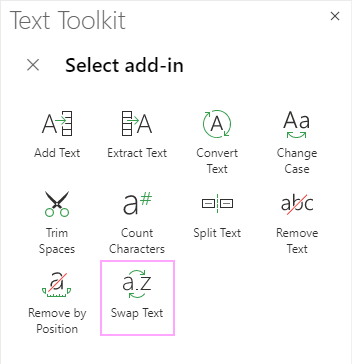 Select Swap Text.