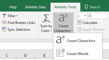 Run the add-in from the Excel's ribbon.
