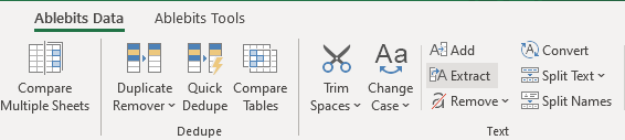 Extract tool for Excel.