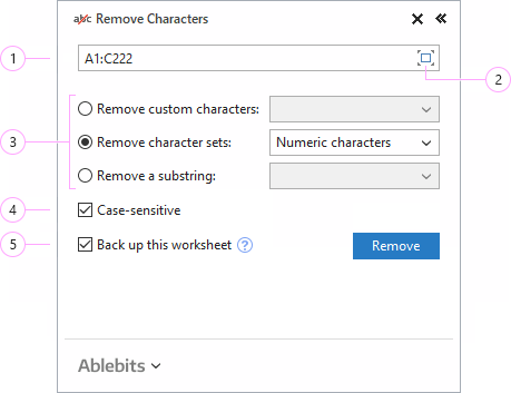 How to remove characters in Excel.