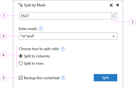 How to split by mask in Excel.