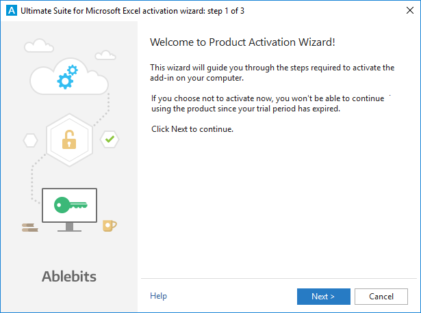 How to activate your Ablebits license for Excel add-ins