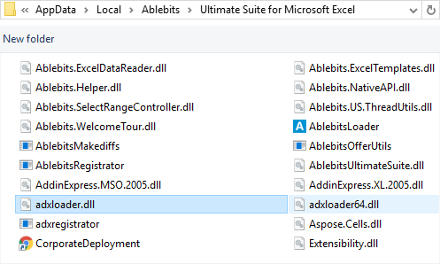 Select the adxloader for your bit Office version.