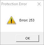 Protection Error 253.
