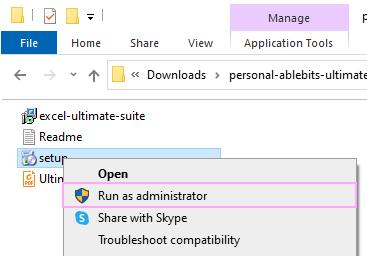 Run as administrator.