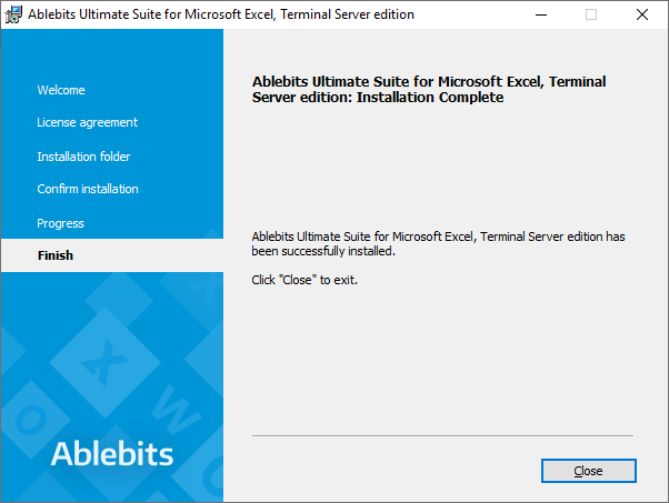 The Ablebits add-in is installed.